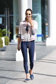Alessandra Ambrosio in Spandex - Out in Santa Monica
