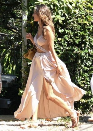 Alessandra Ambrosio in Summer Dress - Out in Florianopolis