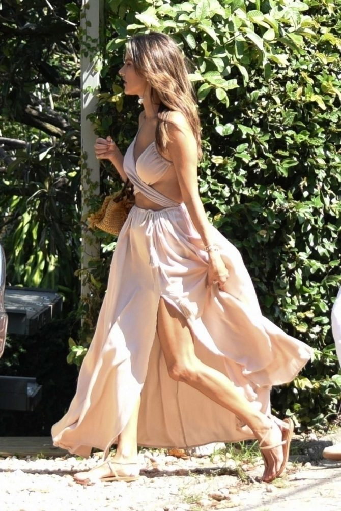 Alessandra Ambrosio in Summer Dress – Out in Florianopolis