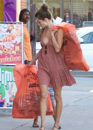 Alessandra Ambrosio in Summer Dress - Out in Los Angeles