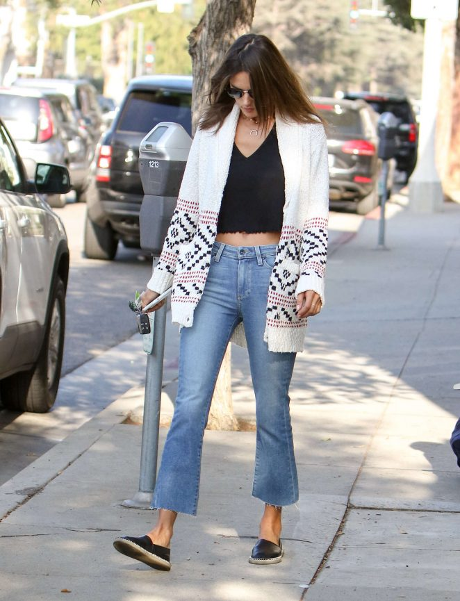 Alessandra Ambrosio in Sweaters and Jeans out in Los Angeles