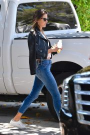 Alessandra Ambrosio - In tight jeand out in Brentwood