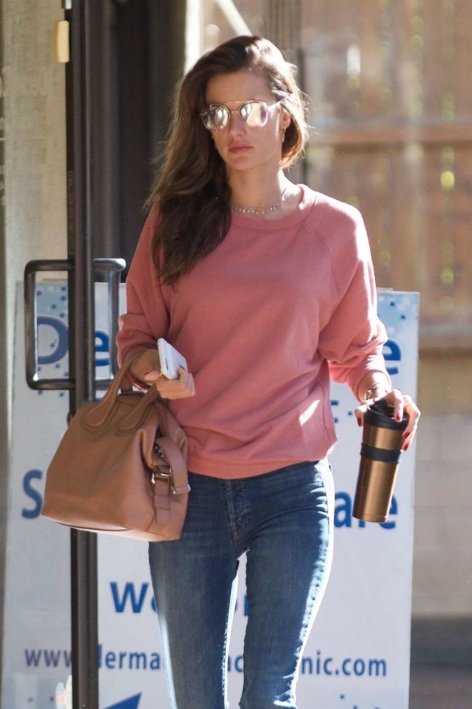 Alessandra Ambrosio in Tight Jeans - Out in Brentwood