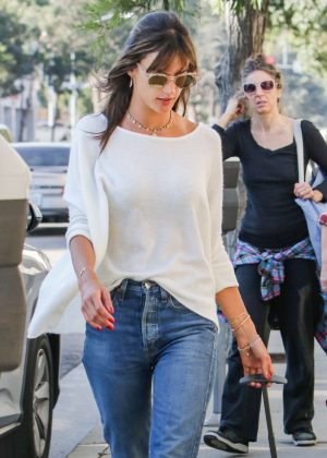Alessandra Ambrosio in Tight Jeans Out in Los Angeles
