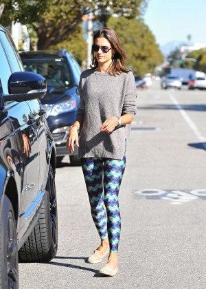 Alessandra Ambrosio in Tight Leggings out in LA