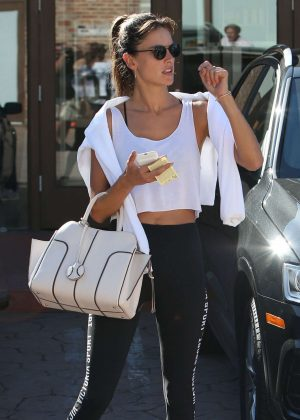 Alessandra Ambrosio in Tight Leggings Out in Los Angeles