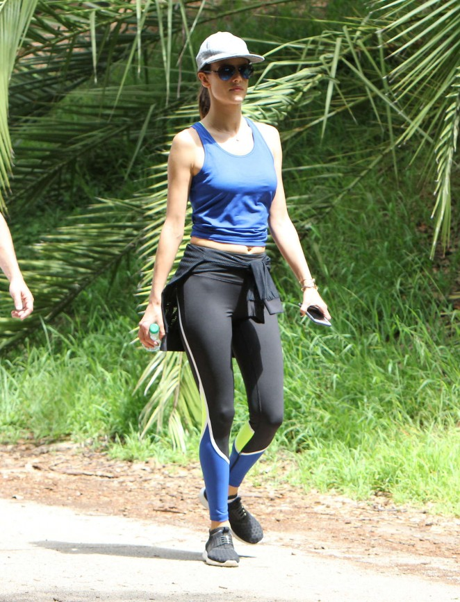 Alessandra Ambrosio in Tights Hiking in Los Angeles