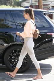 Alessandra Ambrosio in Tights - Shopping for Flowers in Brentwood