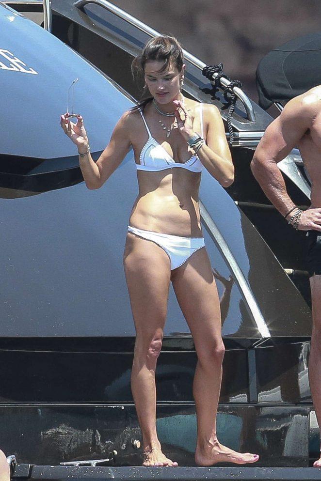 Alessandra Ambrosio in White Bikini 2017 -04