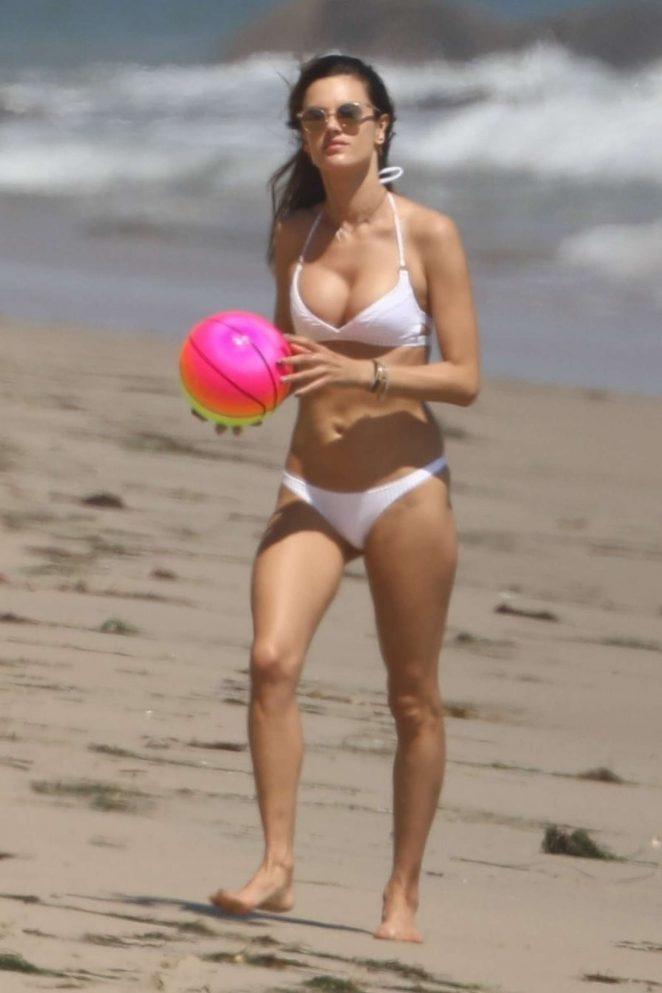 Alessandra Ambrosio in White Bikini 2017 -108