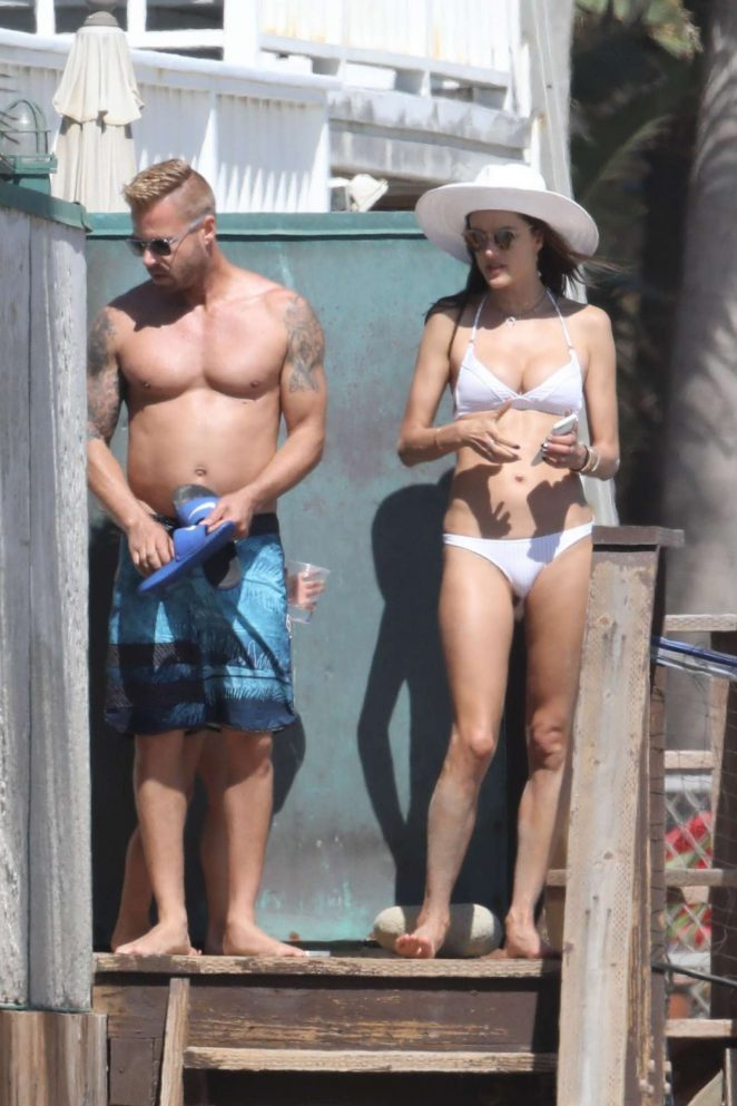 Alessandra Ambrosio in White Bikini 2017 -112