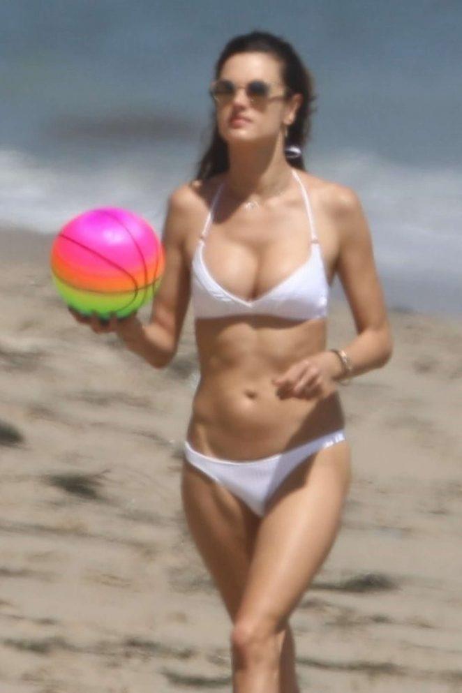 Alessandra Ambrosio in White Bikini 2017 -20