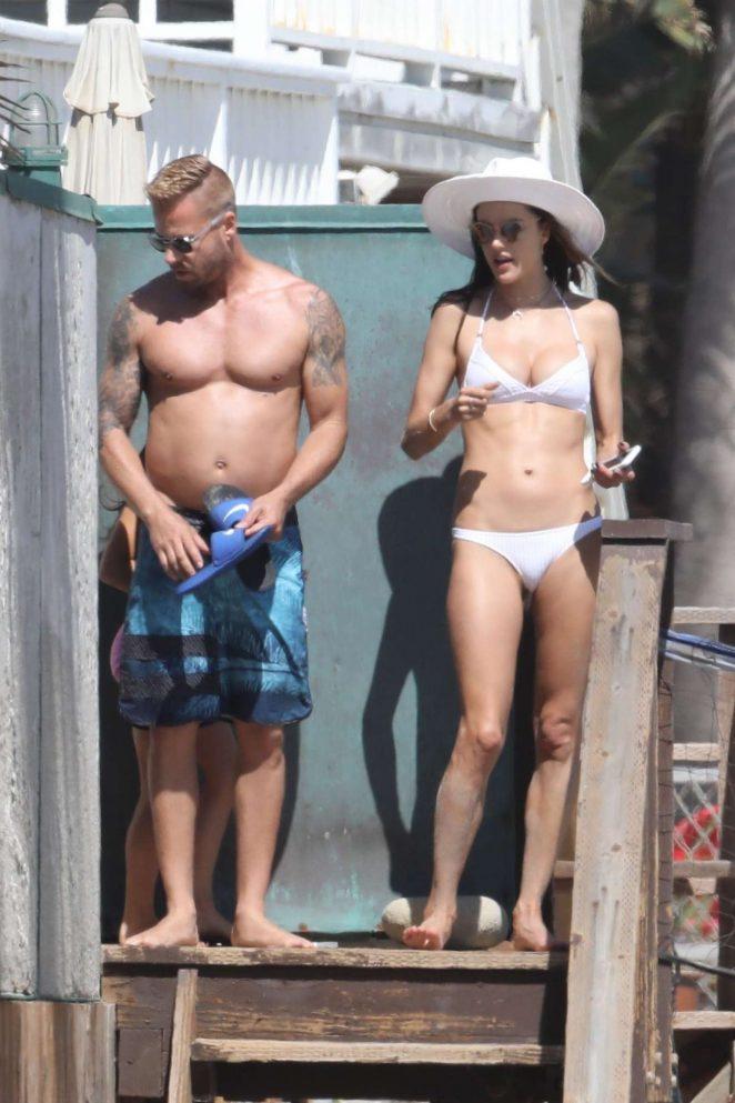 Alessandra Ambrosio in White Bikini 2017 -47