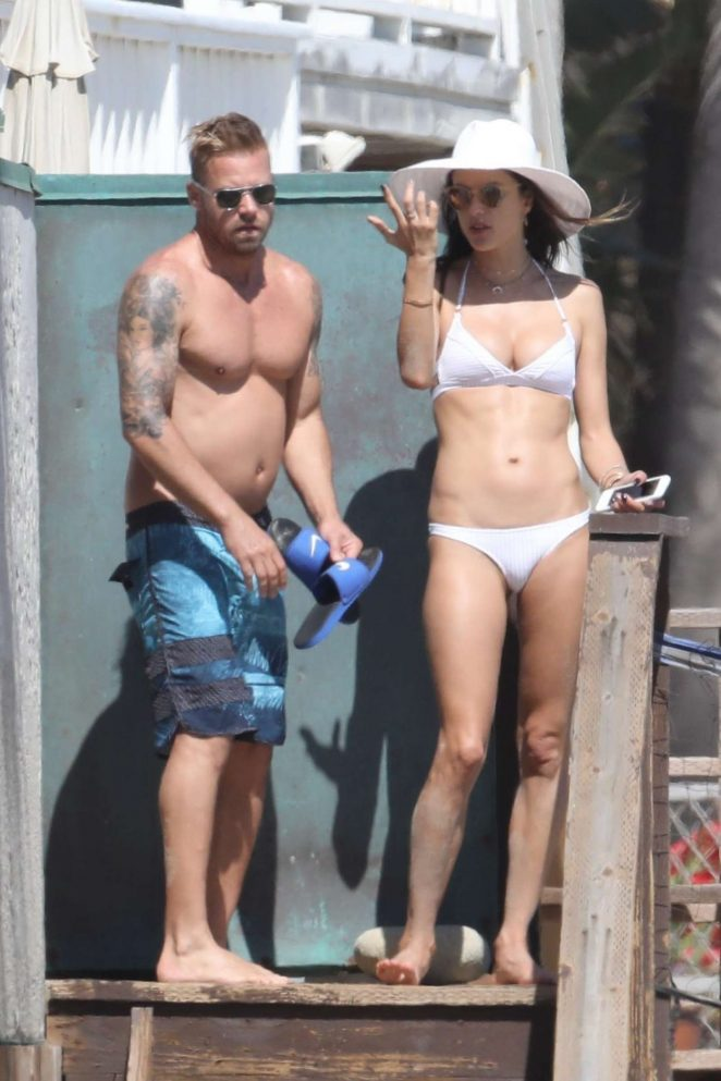 Alessandra Ambrosio in White Bikini 2017 -84