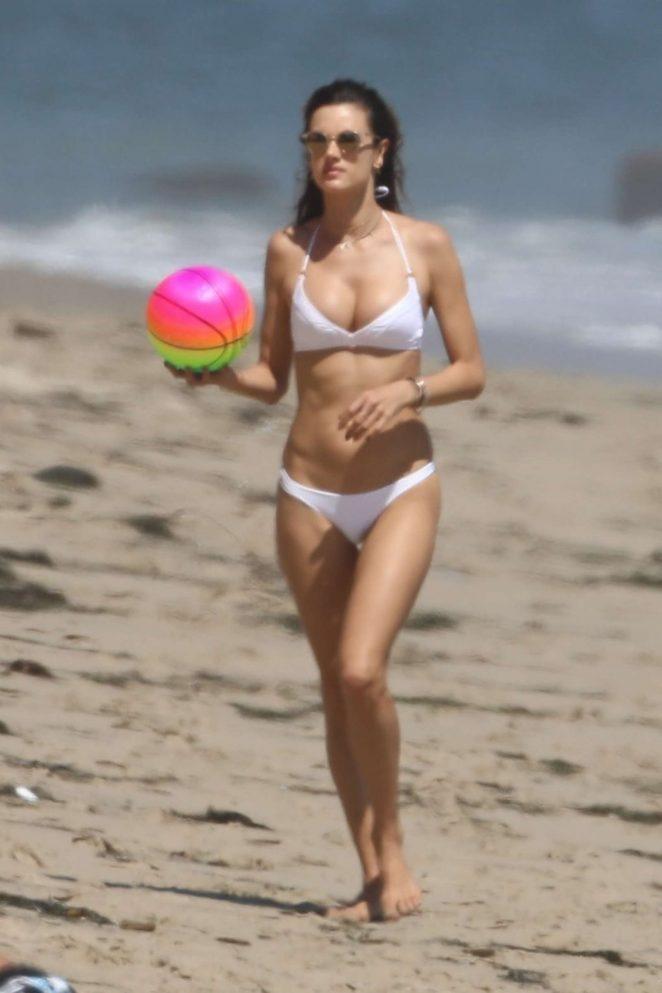 Alessandra Ambrosio in White Bikini 2017 -85