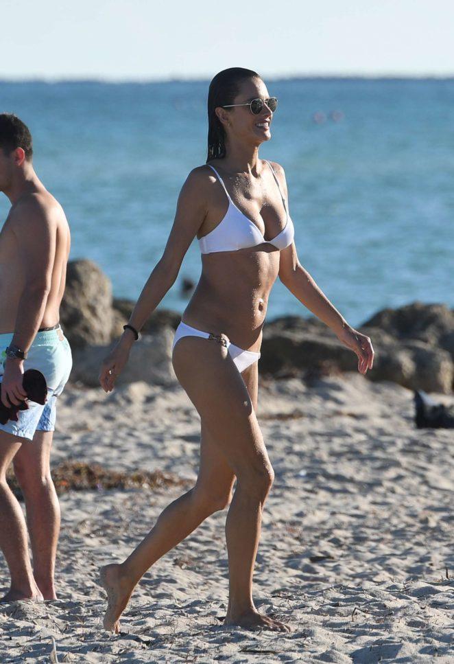 Alessandra Ambrosio in White Bikini 2017 -46