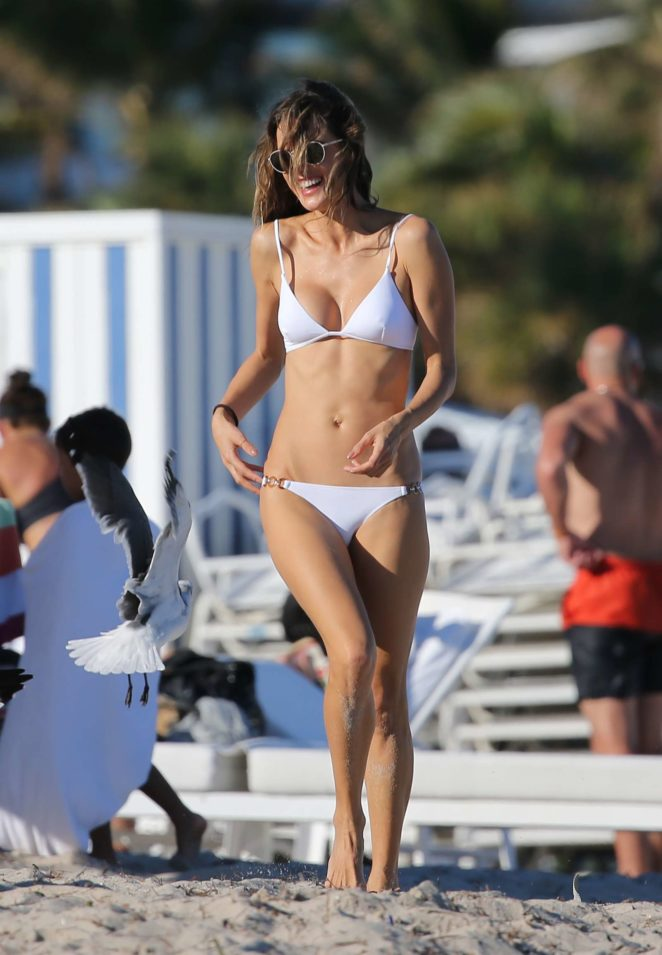 Alessandra Ambrosio 2017 : Alessandra Ambrosio in White Bikini 2017 -59