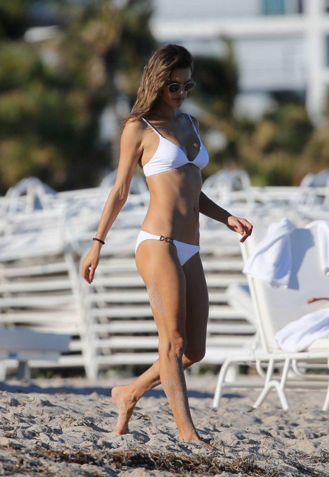 Alessandra Ambrosio 2017 : Alessandra Ambrosio in White Bikini 2017 -79