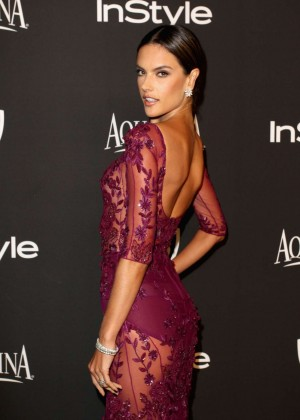 Alessandra Ambrosio - InStyle And Warner Bros Golden Globes Party 2015 in Beverly Hills