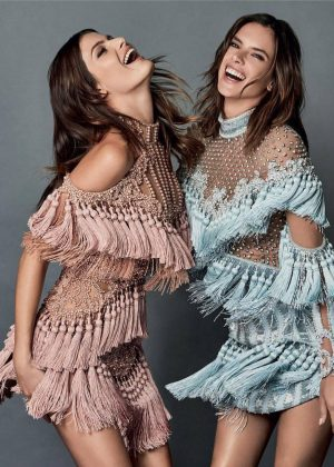 Alessandra Ambrosio & Isabeli Fontana - Vogue Cover Magazine (October 2016)