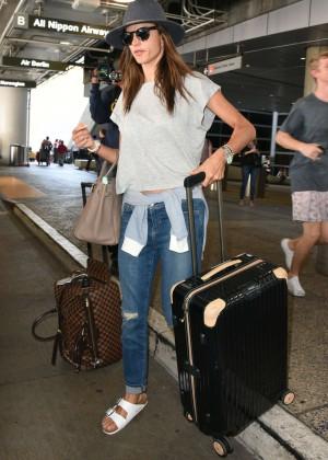 Alessandra Ambrosio - LAX airport in LA