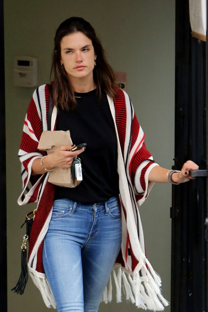 Alessandra Ambrosio Leaves a Pharmacy in Brentwood
