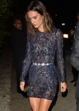 Alessandra Ambrosio - Leaves a Pre Oscar Talent Agency Party in Los Angeles