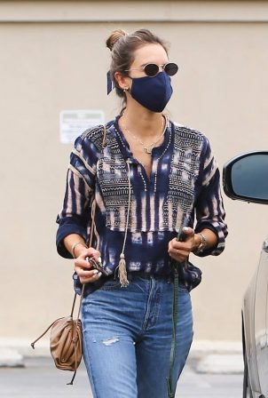 Alessandra Ambrosio - Leaves a spa session in Los Angeles