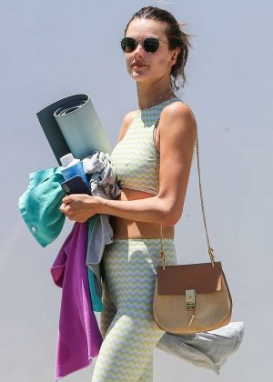 Alessandra Ambrosio - Leaves a yoga class in Los Angeles