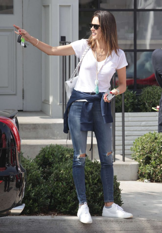 Alessandra Ambrosio - Leaves Gracias Madre in Beverly Hills