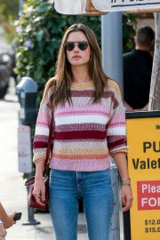 Alessandra Ambrosio - Leaves Il Pastaio in Beverly Hills