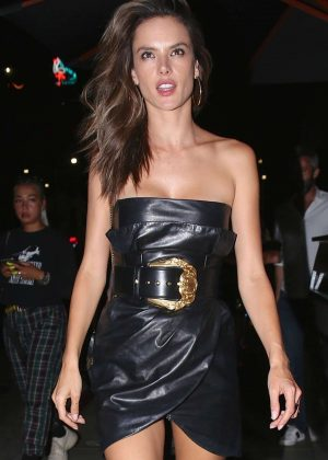 Alessandra Ambrosio - Leaves TAO restaurant in Hollywood