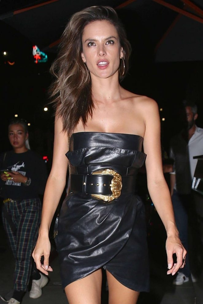 Alessandra Ambrosio – Leaves TAO restaurant in Hollywood