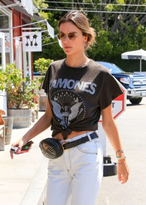 Alessandra Ambrosio - Leaving a coffee place in Brentwood