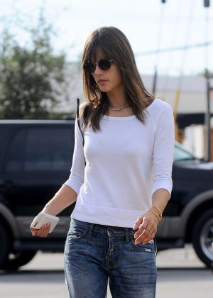 Alessandra Ambrosio Leaving a restaurant in Los Angeles