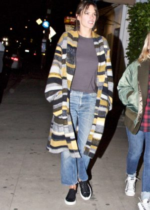 Alessandra Ambrosio - Leaving a restaurant in Los Angeles
