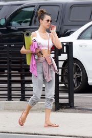 Alessandra Ambrosio - Leaving a yoga class in Santa Monica