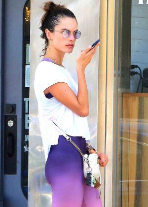 Alessandra Ambrosio - Leaving a yoga class in Venice Beach