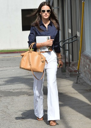 Alessandra Ambrosio - Leaving an Office in West Hollywood