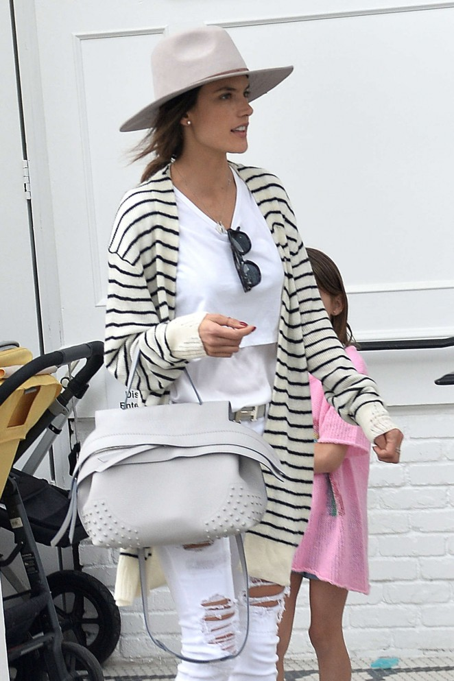 Alessandra Ambrosio - Leaving Au Fudge in Los Angeles