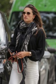 Alessandra Ambrosio - Leaving her home in Brentwood