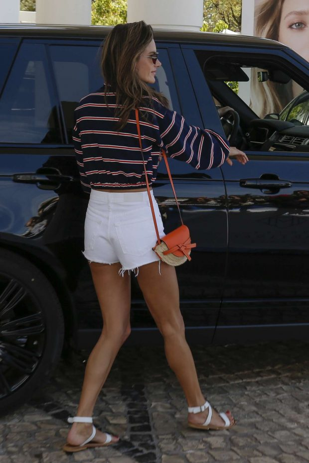 Alessandra Ambrosio - Leaving Her Hotel in Cannes