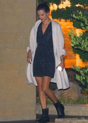 Alessandra Ambrosio - Leaving Nobu in Malibu