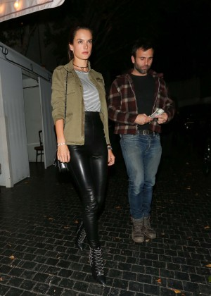 Alessandra Ambrosio in Leather Leaving The Chateau Marmont in Hollywood