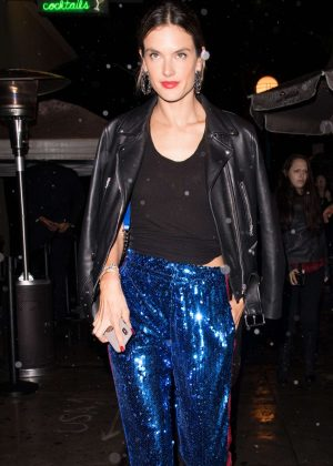 Alessandra Ambrosio - Leaving the Delilah club in West Hollywood