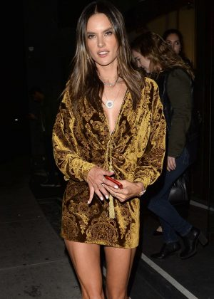 Alessandra Ambrosio - Leaving The DUNDAS Traveling Flagship Cocktail Party in LA