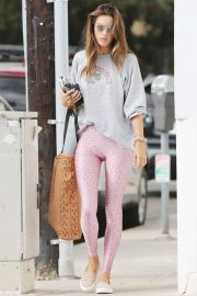 Alessandra Ambrosio - Leaving the gym in Santa Monica