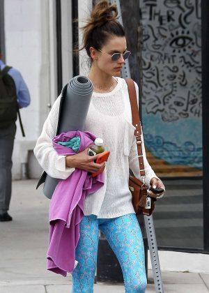 Alessandra Ambrosio - Leaving Yoga Workout in Santa Monica