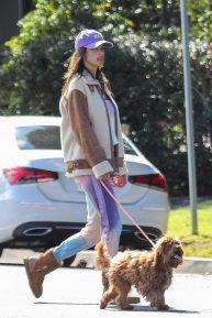 Alessandra Ambrosio - Morrning walk on Easter