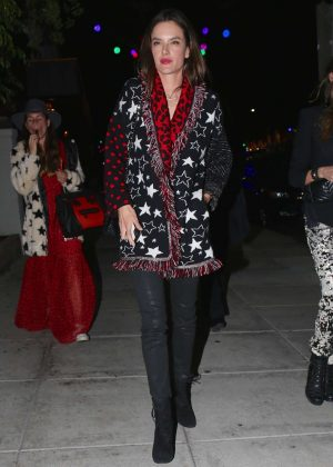 Alessandra Ambrosio - Night out at Matsuhisa in Beverly Hills
